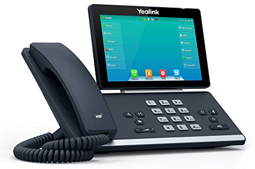 Yealink T57W IP Phone, 16 VoIP Accounts. 7-Inch Adjustable Color Touch Screen. USB 2.0, 802.11ac Wi-Fi, Dual-Port Gigabit Ethernet, 802.3af PoE, Power Adapter Not Included (SIP-T57W)