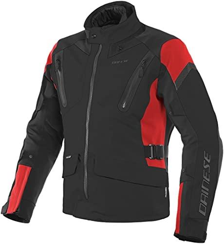 Dainese Motorradjacke mit Protektoren Motorrad Jacke Tonale D-Dry Textiljacke schwarz/rot/schwarz 52 (L), Herren, Tourer, Ganzjährig