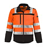 TMG - Chaqueta de trabajo para hombre (tejido Softshell, impermeable, clase 2) naranja XXXXL