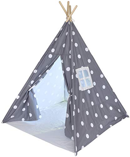 Kids Teepee Tent for Kids, No Toxic Chemicals Added, Carrying Case, Polka...