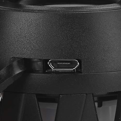 BOLORAMO Lámpara de atmósfera de Llama de Altavoz de Altavoz Bluetooth, para Acampar, para Uso en el hogar al Aire Libre