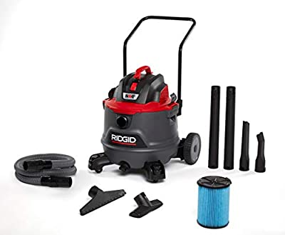 Ridgid 62718 Red 14 gallon RT1400 Wet/Dry Vacuum, Dark Gray and Red