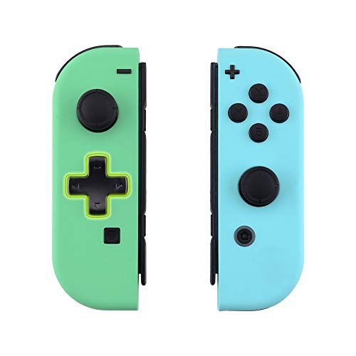 eXtremeRate Joycon Handheld Controller Mint Green & Heaven Blue Housing (D-Pad Version) with Full Set Buttons, DIY Replacement Shell Case for Nintendo Switch Joy-Con  Joycon and Console NOT Included