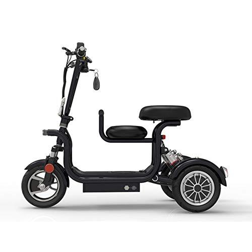 YAUUYA Elektrisches Dreirad E Scooter Dreirad Elektroroller Mit Kindersitz, Höchstgeschwindigkeit Von 37 Km/h, Ausdauer Von 75 Km, Tragfähigkeit Von 140 Kg, Geeignet Für Familiengebrauch