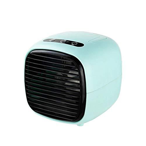 dewdropy Mini enfriador de aire portátil USB, humidificador, purificador de aire y ventilador de refrigeración, 3 ajustes de velocidad