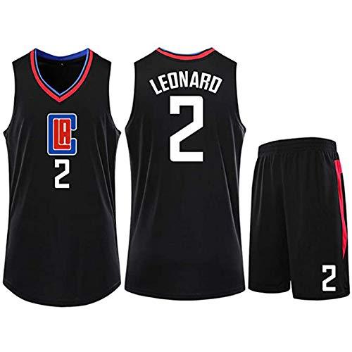 WAIY Broǒk Lòpèz # 2 Los Angeles Clippers Set De Jersey De Baloncesto, Camiseta De Baloncesto para Hombre Tejido Elástico Profesional No Se Desvanece Limpieza Repetible Black-XXXL
