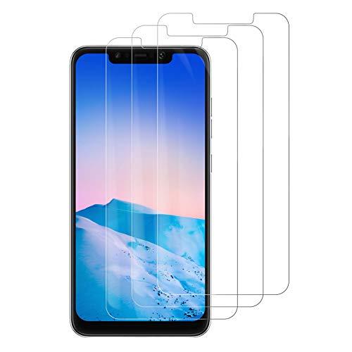 PUUDUU Protector de Pantalla para Xiaomi Pocophone F1, [3 Pack] Cristal Templado para Xiaomi Pocophone F1, Vidrio Templado, Sin Burbujas, Anti-Rasguños, HD Transparente