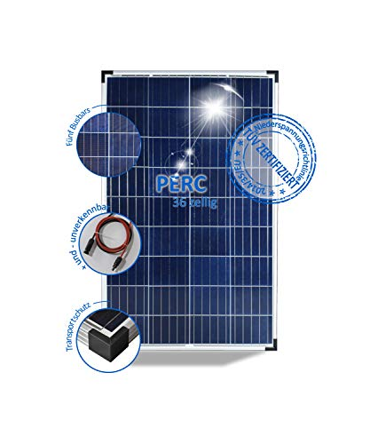 Solarmodul 100W Solarpanel 12V Polykristallin Wohnmobil Caravan 5 Busbars
