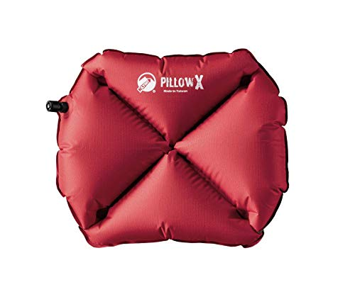 Klymit Pillow X Inflatable Camping & Travel Pillow, Red/Gray
