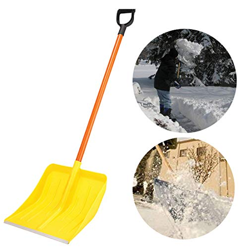 Lowest Price! 18.5 Snow Scoop Shovel with Steel Wide Shovel Head and Plastic Handle Lightweight and...