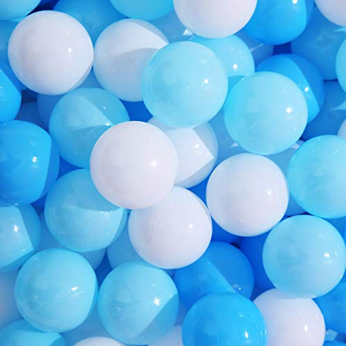 2.36inches Phthalate/&BPA Free Plastic Ocean Pearl White and Transparent Balls for Kids Toddlers and Babys for Playhouse Play Tent Playpen Pool Party Decoration Pack of 70 PlayMaty Ball Pit Balls