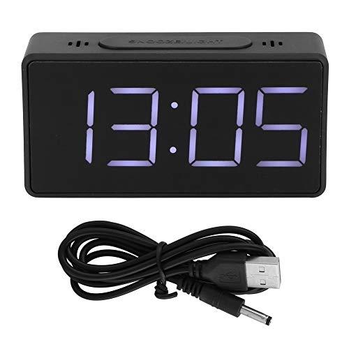 Fdit digitale wekker voor slaapkamer LED-tijdweergave met sluimerfunctie voor slaapkamer keuken kantoor meerdere wektijden