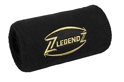 LegendZ - Cinta de Deporte de diseño - práctico Compartimento con Cremallera, muñequera, Juego de muñequeras para Hombres, Mujeres, niños en 4 Colores, Etiqueta Dorada Bordada (Negro)