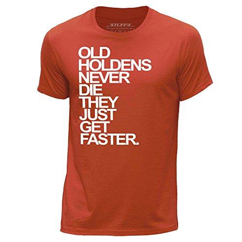 STUFF4 Herren/X Klein (XS)/Orange/Rundhals T-Shirt/Old Holdens/Holden Never Die