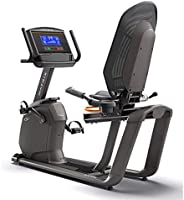 "Matrix Recumbent Bike R50xr with 8.5"" Extra-wide blue LCD"