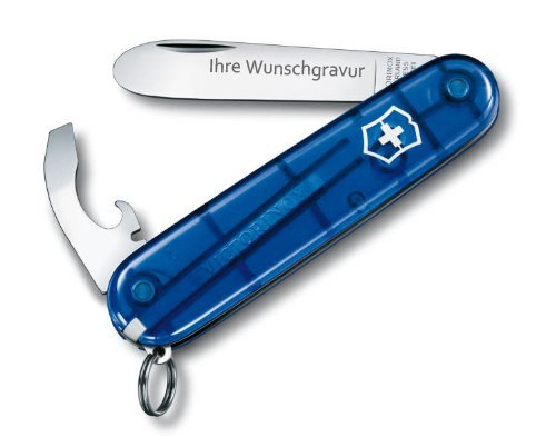 Victorinox Taschenwerkzeug My First Vx, blau mit persönlicher Gravur