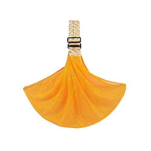 LGLE Nouveau-né Bébé Sling Anneau de Transport Wrap Respirant Ergonomique Réglable Sangle Wrap Sling Doux,Orange