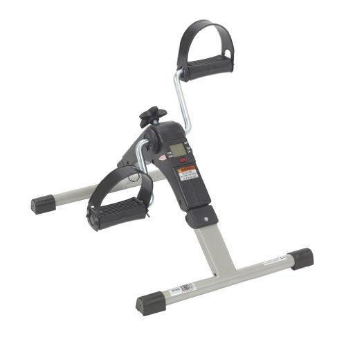 Drive Medical Deluxe Folding Exercise Peddler with Electronic Display , Black...