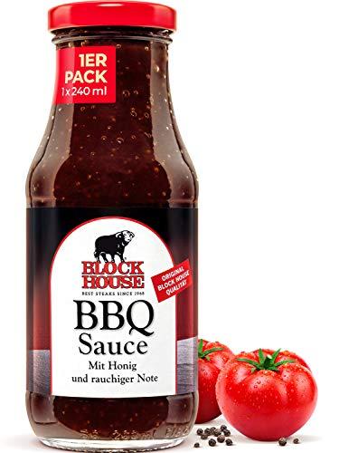 Block House Fine BBQ Sauce 240ml für Fleisch oder Fisch - in Restaurantqualität