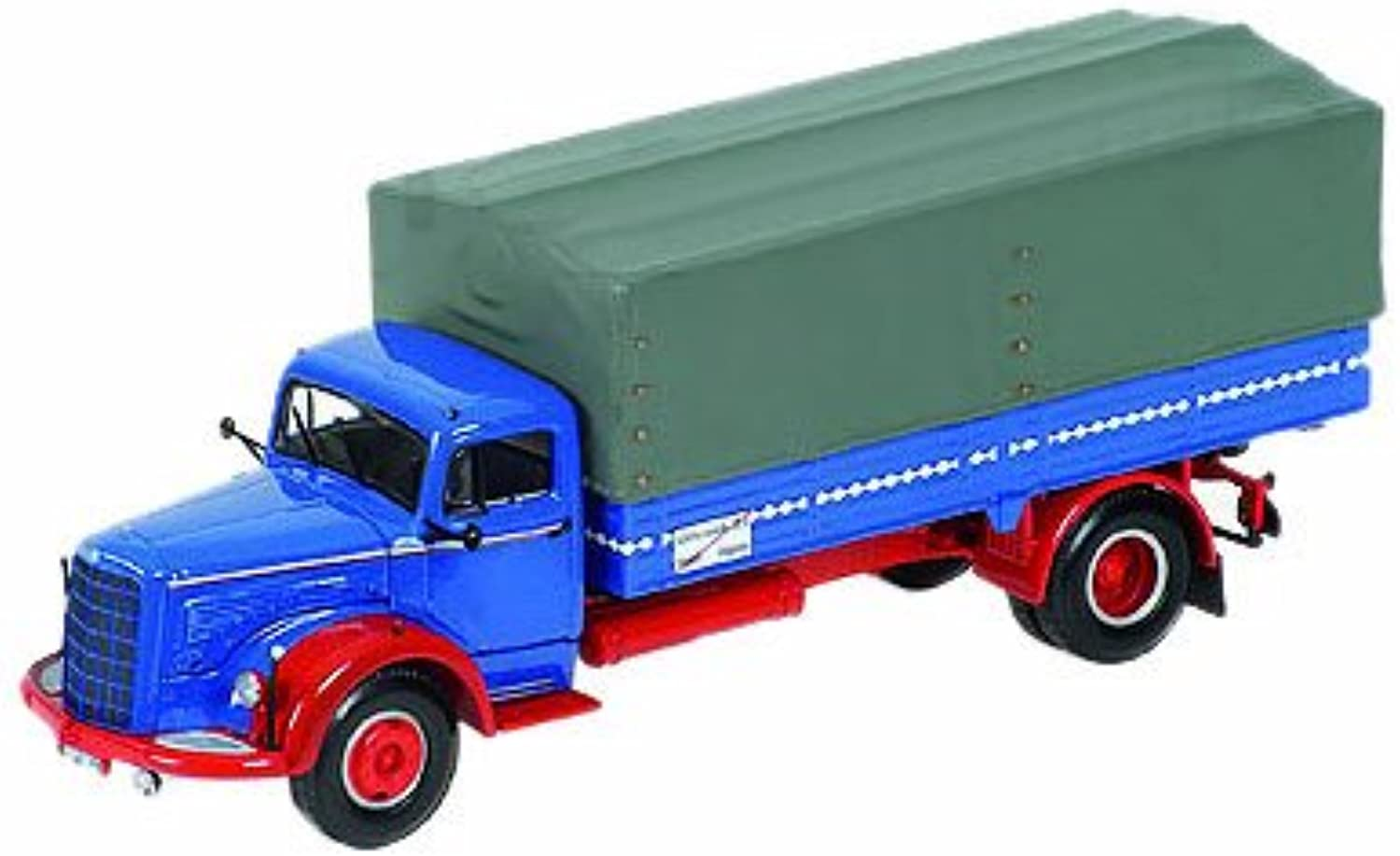 Minichamps 439034420 Model Lorry  Mercedes L315 Prische 1954  1 43 Scale  Red bluee
