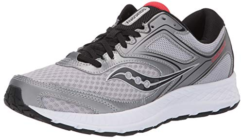 Saucony Men's Versafoam Cohesion Road Running Shoe, silver/red, 12 M US