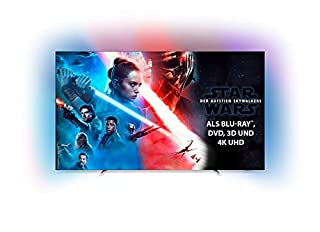 Philips Ambilight 55OLED754/12 139 cm (55 Zoll) OLED Smart TV mit Alexa-Integration (4K UHD, P5 Perfect Picture Engine, Dolby Vision, Dolby Atmos, HDR 10+, Saphi Smart TV) Silber [Modelljahr 2019] (B07RWNWP2B) | Amazon price tracker / tracking, Amazon price history charts, Amazon price watches, Amazon price drop alerts