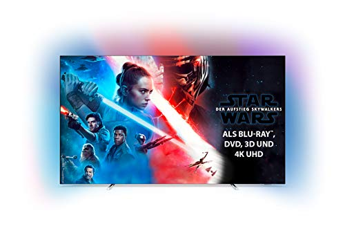 Philips Ambilight 65OLED754/12 164 cm (65 Zoll) OLED Smart TV mit Alexa-Integration (4K UHD, P5 Perfect Picture Engine, Dolby Vision, Dolby Atmos, HDR 10+, Saphi Smart TV) Silber [Modelljahr 2019]