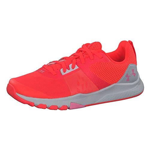 Under Armour UA W TriBase Edge Trainer, Zapatillas Deportivas para Interior para Mujer, Rojo (Beta/Halo Gray/Lipstick), 39 EU