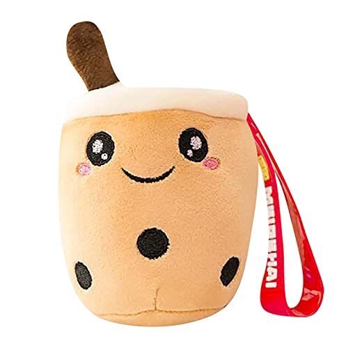Zzple Plush Figure Toys Lovely Keychain Doll Key Chain Pendant Milk Tea Cup Doll Plush Bag Pendant Bag Pendant Bag Car Charm Key Ring Jewelry For Women (Color : AS Show)