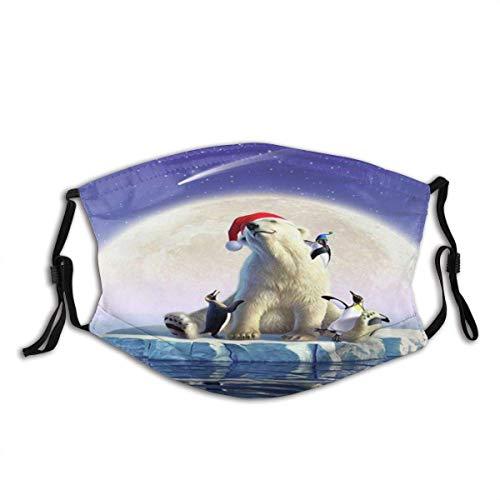Gesicht Mas_ke Mond Eisbär Pinguin Farbe Sturmhaube Mund Bandanas Outdoor Camping Motorrad Running Neck Gamasche mit 2 Filtern