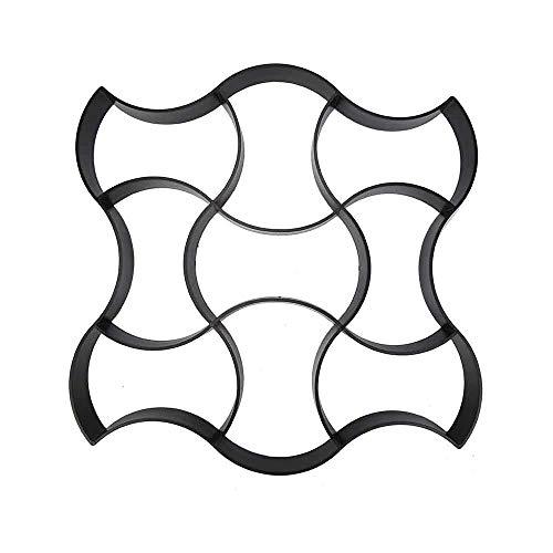 DIYARTS Molde de Jardín Walk Maker Molde de Pavimento de Plástico Pavimento de Paseo Molde de Hormigón DIY Pavimentación Manual Moldes de Piedra de Escalón de Hormigón Moldes