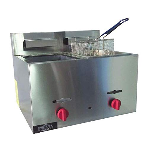 HCS Double Well LP/NG Gas Fryer 9 Liter Capacity Each