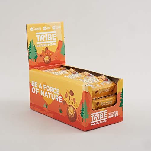 Tribe Protein Balls, Vegan Honeycomb + Almond Butter, Vegan, Gluten & Dairy Free. Protein Nature Bombs (12 x 40g)