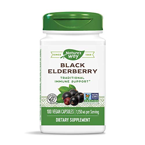 Nature's Way Elderberry Capsules 575 mg, 100-Count, 100