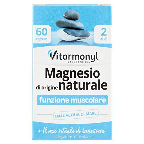 Vitarmonyl MAGNESIO DI ORIGINE NATURALE ● Integratore 60 capsule ● Funzione muscolare ● Registrato Ministero Salute Italiano