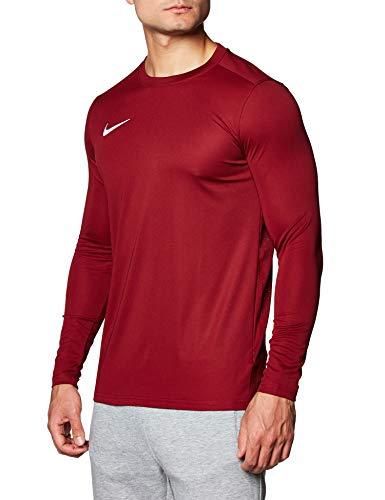 NIKE M NK Dry Park VII JSY LS Camiseta de Manga Corta, Hombre, Team Red/White, L