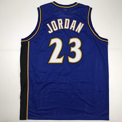 Unsigned Michael Jordan Washington Blue Custom Stitched Basketball Jersey Size Men's XL New No Brands/Logos