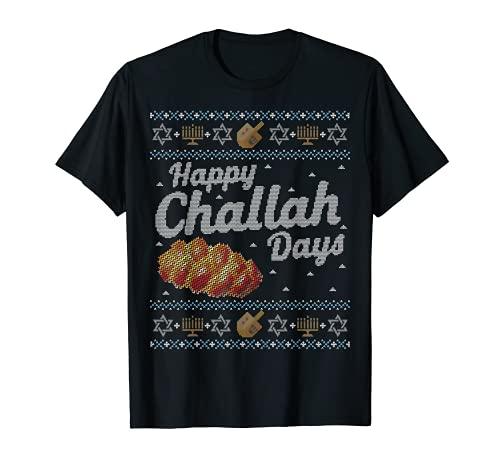 Funny Ugly Hanukkah Sweater Shirt, Happy Challah Days gift