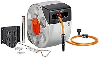 Claber 8990Hose Reel with Automatic Reeling, 20m (Black/Orange/Grey)