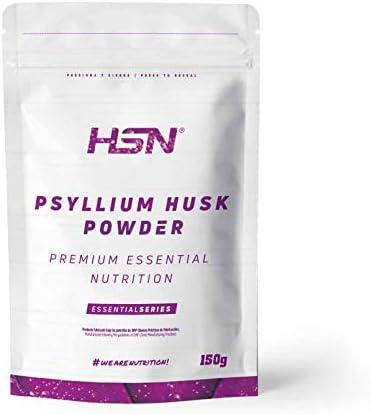 HSN Psyllium Husk Cáscara de Plántago | Fuente de Fibra Soluble, Combate el Estreñimiento, Mejora el Tránsito Intestinal | Vegano, Sin Gluten, Sin ...