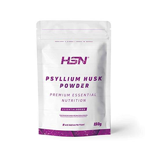 HSN Psyllium Husk Cáscara de Plántago | Fuente de Fibra Soluble, Combate el Estreñimiento, Mejora el Tránsito Intestinal | Vegano, Sin Gluten, Sin Lactosa, En Polvo, Sabor Natural, 150 gr
