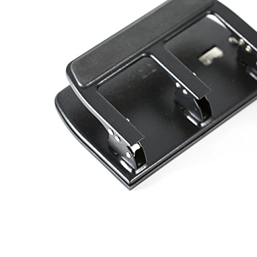 Officemate Heavy Duty 3 Hole Punch with Padded Handle, 40-Sheet Capacity, Black (90089) Photo #4
