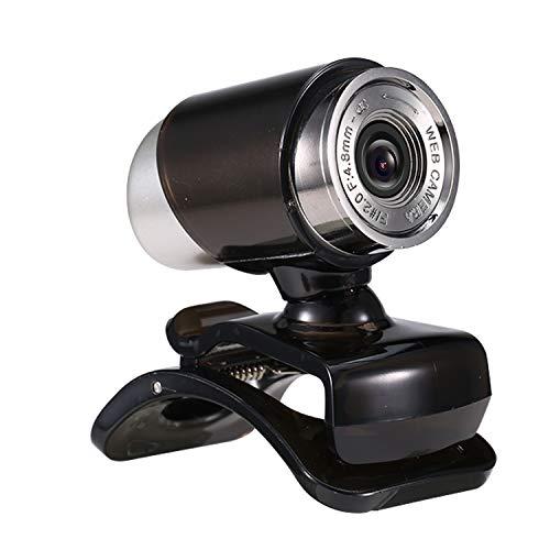Hylotele 640P Webcam Live Streaming Webcam Cámara Web USB giratoria de 360 Grados para PC Laptop con Clip Webcam para videoconferencia Reunión Gaming Desktop Office Cámara Web