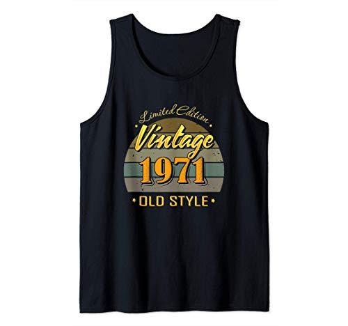 50 años de edad 50 cumpleaños decoraciones 1971 vintage Camiseta sin Mangas