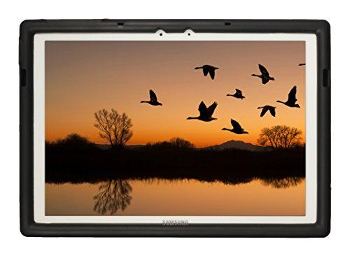 Bobj Rugged Case for Samsung Galaxy TabPro S 12 (SM-W700) - BobjGear Custom Fit - Patented Venting - Sound Amplification - BobjBounces Kid Friendly (Bold Black)