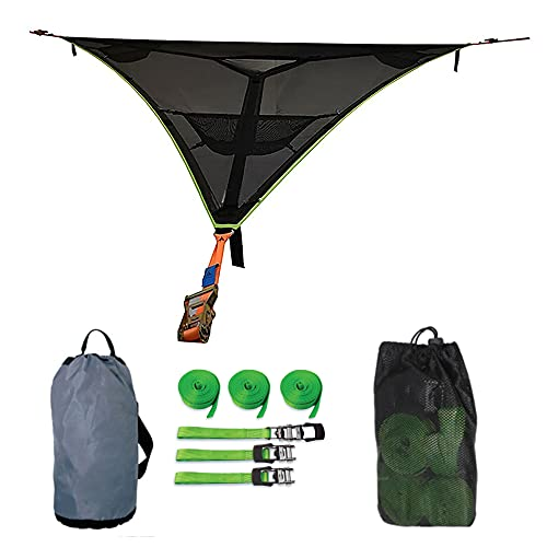 2021 Revolutionary Giant Aerial Camping Hammock - Multi Person Portable Hammock 3 Point with...