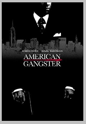American Gangster 2007 Filmklassiker Denzel Washington Poster Wandkunst Dekor Gemälde Leinwand Wandkunst Inneneinrichtung 50x75cm No Frame