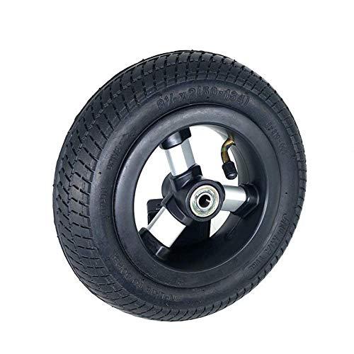 Neumáticos para patinetes eléctricos, Ruedas Completas inflables de 8 1/2 x 2, robustos y duraderos, adecuados para Triciclo para niños de 8.5 Pulgadas 50-134, Cochecito de bebé, Seguro y cómodo