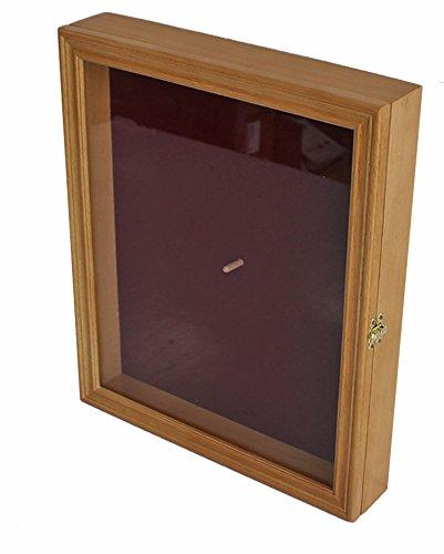 Drum Stick Display Case Shadow Box Wall Cabinet, with door. CD22 (Oak)