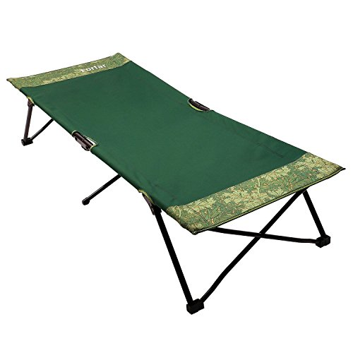 Forfar Folding Camping Bed Portable Lightweight Comfortable Cot Green